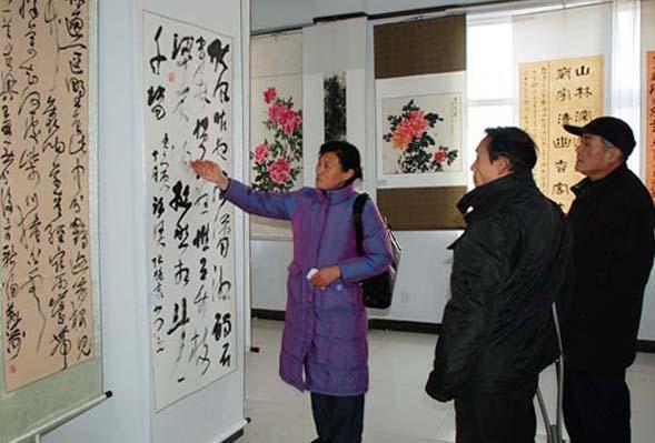 界首市文联举办迎新春书画展图片