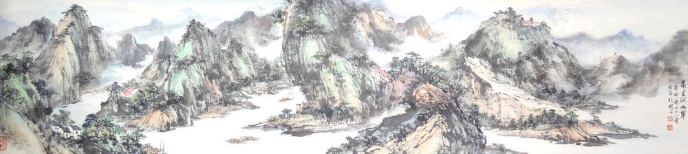 著名画家山水画作品分享展示
